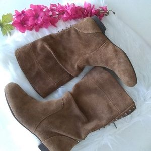 Gianni Bini Brown Suede Rivet Boots Size 6